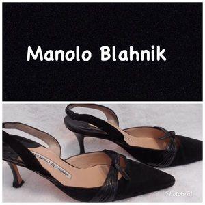 Manolo Blahnik kitten heels size 34